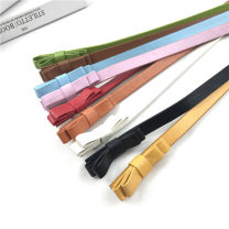 Belt / belt / chain Pu (artificial leather) Yellow bow belt, red bow belt, white bow belt, camel bow belt, orange bow belt, blue bow belt, black bow belt, pink bow belt, fruit green bow belt female belt Versatile Single loop Children, youth, youth, middle age Pin buckle bow soft surface 1.2cm alloy