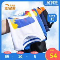 T-shirt Anta 130cm 140cm 150cm 160cm 165cm 170cm male summer Short sleeve Crew neck motion There are models in the real shooting nothing cotton other Cotton 100% Class B Sweat absorption Summer 2021 Chinese Mainland Fujian Province Quanzhou City