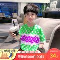 T-shirt As shown in the figure Heimi Ma 100cm,110cm,120cm,130cm,140cm,150cm,160cm male summer Crew neck leisure time There are models in the real shooting nothing other other Chinese Mainland
