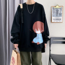 Sweater Youth fashion Others S,M,L,XL,2XL,3XL,XS Cartoon animation Socket routine Crew neck autumn easy leisure time teenagers tide Off shoulder sleeve Fleece  Cotton 100% cotton printing No iron treatment More than 95%