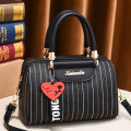 Bag Inclined shoulder bag PU Boston Bag Tianyan brand new Fashion trend in leisure time soft zipper no stripe Single root One shoulder portable messenger nothing youth Pillow shape stripe Soft handle polyester fiber inside pocket with a zipper soft surface Bag with cover