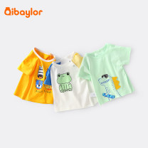 T-shirt Qibaylor / qibaylor 66cm 73cm 80cm 90cm 100cm 110cm 120cm 130cm 140cm neutral summer Short sleeve Crew neck leisure time No model nothing Pure cotton (100% cotton content) other Cotton 100% Class A Spring 2021 Six months 12 months 9 months 18 months 2 years 3 years 4 years 5 years 6 years