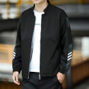 Jacket Other / other Youth fashion M,L,XL,2XL,3XL,4XL,5XL routine easy Other leisure spring Polyester 100% Long sleeves Wear out Baseball collar Youthful vigor youth routine Zipper placket 2021 Rib hem No iron treatment Closing sleeve other polyester fiber Rib bottom pendulum Side seam pocket