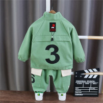 suit Other / other 80cm,90cm,100cm,110cm,120cm,130cm male spring and autumn leisure time Long sleeve + pants 2 pieces routine No model Zipper shirt nothing other cotton children Expression of love Class A Cotton 95% other 5% Chinese Mainland Zhejiang Province Shaoxing