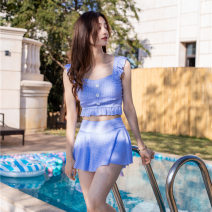 Split swimsuit Qinhe Blue, pink, green M [80-95 Jin], l [95-105 Jin], XL [105-120 Jin] boxer With chest pad without steel support other