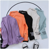T-shirt Other / other male spring and autumn Long sleeves High collar leisure time No model nothing cotton other Cotton 100% Class B other 2 years old, 3 years old, 4 years old, 5 years old, 6 years old, 7 years old, 8 years old