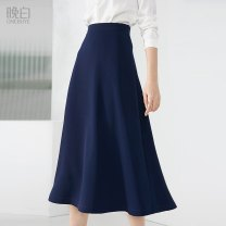 skirt Autumn 2020 S M L XL 2XL blue Mid length dress commute High waist A-line skirt Solid color Type A 30-34 years old More than 95% other ONEBUYE polyester fiber zipper Simplicity Polyester 97.9% polyurethane elastic fiber (spandex) 2.1% 401g / m ^ 2 (inclusive) - 500g / m ^ 2 (inclusive)