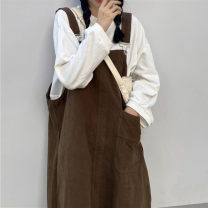 Fashion suit Autumn 2020 Average size Brown strap, Navy strap, white sweater, rose powder sweater 18-25 years old 96% and above