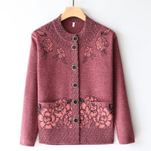Middle aged and old women's wear Spring 2020, winter 2020, autumn 2020 commute Knitwear / cardigan easy singleton  Flower and bird pattern Over 60 years old Cardigan moderate Crew neck routine routine Other / other pocket 31% (inclusive) - 50% (inclusive) Single breasted ethnic style
