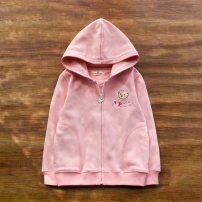 Plain coat Other / other female Pink, Navy spring and autumn leisure time Zipper shirt No model routine No detachable cap Cartoon animation Cotton blended fabric Hood Cotton 95% polyurethane elastic fiber (spandex) 5% Class B