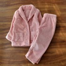 Home suit Other / other Pink winter female Polyester 100% Two, three Keep warm at home Flannel Class B