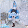 Cosplay women's wear suit Customized Over 14 years old Snowflake Lamy girl, snowflake Lamy wig, snowflake Lamy shoes, snowflake Lamy full set Animation, games S. M, l, XL, customized CGCOS Japan Lovely wind, Maid Dress, Yu Jie fan vtuber CG1006CZH