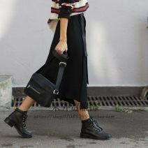 skirt Summer of 2019 2,4,6,8 Black blue longuette Versatile 25-29 years old