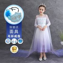 Dress female 100cm,110cm,120cm,130cm,140cm,150cm Other 100% spring and autumn princess Long sleeves Solid color other Splicing style Class A 2, 3, 4, 5, 6, 7, 8, 9, 10, 11, 12 years old Chinese Mainland Guangdong Province Foshan City