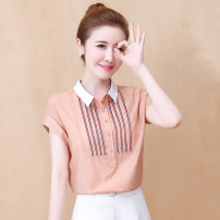 Lace / Chiffon Summer 2020 S,M,L,XL,2XL Short sleeve commute Socket singleton  easy Regular Polo collar Solid color routine 25-29 years old Other / other Korean version 96% and above
