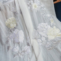 Hanfu 96% and above White gold, white silver polyester fiber