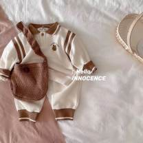 suit Other / other Grey suit (stock), beige suit (stock), yellow suit (stock) 80cm,90cm,100cm,110cm,120cm currency spring and autumn leisure time Long sleeve + pants routine No model Socket nothing cotton Expression of love 12 months, 18 months, 2 years old, 3 years old, 4 years old, 5 years old
