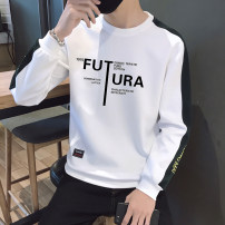 T-shirt Youth fashion routine M,L,XL,2XL,3XL,4XL Others Long sleeves Crew neck easy Other leisure autumn LM03097 Polyester 95% polyurethane elastic fiber (spandex) 5% teenagers routine tide 2019 Alphanumeric Color contrast polyester fiber other No iron treatment More than 95%