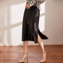 skirt Spring 2021 S,M,L,XL Mid length dress commute High waist A-line skirt Solid color Type A 81% (inclusive) - 90% (inclusive) other The magic magician of Oz other