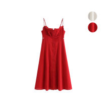 Dress Summer of 2019 White, red S,M,L singleton  Solid color camisole