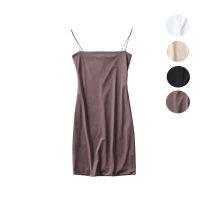 Dress Summer of 2019 White, black, brown, beige S, M singleton  Solid color