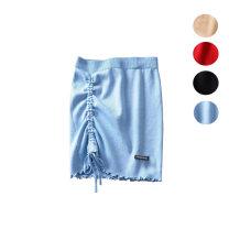 skirt Summer of 2019 S, M Black, red, khaki, blue Irregular