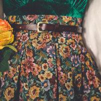 skirt Winter 2020 longuette victoria High waist Fluffy skirt Decor Type A 30% and below other Miss egg / MI AI cotton Pleated, zipper