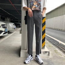 Casual pants Others Youth fashion Black, apricot, grey S,M,L,XL routine Ninth pants Other leisure Straight cylinder Micro bomb eight thousand eight hundred and eleven summer teenagers Exquisite Korean style 2020 middle-waisted No iron treatment