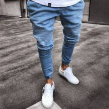 Jeans Youth fashion Others S M L XL 2XL 3XL 4XL Light blue black routine Micro bomb Shorts (up to knee) motion Four seasons youth Youthful vigor 2018