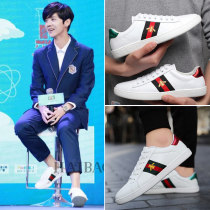 canvas shoe Gfla / Jaffer Low Gang Mandarin duck Shoes Black mandarin duck bee breathable mandarin duck shoes 35 36 37 38 39 40 41 42 43 44 Spring 2017 Elastic band Korean version rubber Solid color Youth (18-40 years old) three thousand and forty-one Injection process Zero point seven 9X18X27