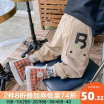 trousers I'M SWEET male Black, khaki No season trousers Korean version There are models in the real shooting Casual pants Leather belt middle-waisted cotton Don't open the crotch Cotton 98% polyurethane elastic fiber (spandex) 2% Class B Three, four, five, six, seven, eight, nine, ten, eleven, twelve