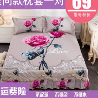 Bed skirt 150*200cm,180*220cm,200*230cm,180*200cm cotton Other / other Plants and flowers Qualified products