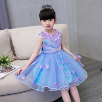 Children's dress Picture color female 90cm 100cm 110cm 120cm 130cm 140cm 150cm 160cm Children cheerleading full dress Girls' dress D53 Class B other Spring 2017