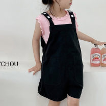 trousers Other / other female XS (recommended height 80cm), s (recommended height 90cm), m (recommended height 100cm), l (recommended height 110cm), XL (recommended height 120cm), XXL (recommended height 130cm) summer shorts leisure time There are models in the real shooting Jumpsuit Leather belt