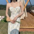 Dress Summer 2021 white S,M,L,XL Short skirt Two piece set Long sleeves commute V-neck middle-waisted Decor Socket Pencil skirt routine camisole 18-24 years old Type A Other / other Korean version backless 31% (inclusive) - 50% (inclusive) brocade polyester fiber