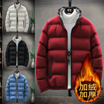 cotton-padded clothes Black, red, blue, off white, black (s555), black and white (s555), black and blue (s555), black orange (s555) Others M,L,XL,2XL,3XL,4XL Youth fashion thickening Medium length easy Other leisure SS066 stand collar youth zipper Youthful vigor Washed cotton Straight hem Solid color