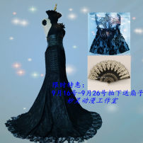 Cosplay women's wear Other women's wear Customized Over 14 years old White, black game 50. M, s, XL, customized Miaoling animation Cos clothing