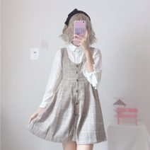 Dress Spring 2020 White shirt One size fits all, XXS pre-sale Middle-skirt Sweet 18-24 years old Type A Other / other solar system