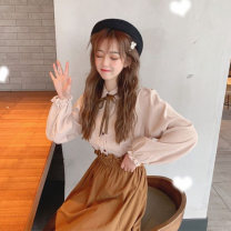 Fashion suit Autumn of 2019 One size fits all, XXS pre-sale White jacket, apricot jacket, red skirt and Khaki Skirt 18-25 years old Other / other