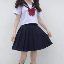 Fashion suit Summer 2021 Average size Top, top quality, skirt, skirt quality 18-25 years old 30% and below
