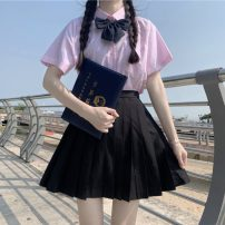 Fashion suit Summer 2021 Average size Shirt with bow tie, skirt s, Skirt M 18-25 years old 30% and below