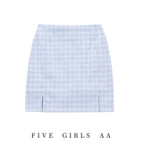skirt Summer 2020 S,M,L Gentle blue with safety pants, gentle blue without safety pants Short skirt Versatile Q962