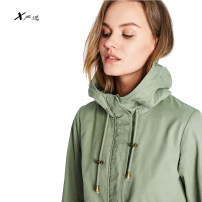 Windbreaker Spring 2021 XS,S,M,L,XL Greyish green Long sleeves routine have more cash than can be accounted for street zipper Hood routine Solid color Other / other URW002830 Cap, pocket, zipper, swallow tail 96% and above cotton cotton cotton Sports & Leisure