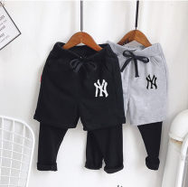 trousers Other / other male 90cm,100cm,110cm,120cm,130cm,140cm,150cm,160cm Black NY, gray NY, black TB, gray TB, black smiley face, gray smiley face, black five-star, gray five-star spring and autumn trousers motion No model Leggings Leather belt middle-waisted cotton Don't open the crotch