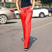 Casual pants Red, pay attention to the size selection, remember, can contact customer service suggestions, can't take according to the normal, the minimum is XS XS,S,M,L,XL Summer 2021 trousers Wide leg pants Natural waist original Thin money 51% (inclusive) - 70% (inclusive) hemp hemp