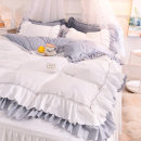 Bedding Set / four piece set / multi piece set Others other Solid color 133x72 Other / other Polyester (polyester fiber) 4 pieces 40 Egger white, egger pink, egger blue, egger green, egger plum red, egger light bean paste, egger dark gray Bed skirt Qualified products Princess style other other