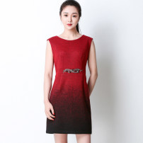 Dress Winter 2017 Black red 160/84A,165/88A,165/92A,170/96A Mid length dress other Sleeveless commute V-neck High waist Decor zipper Pencil skirt 35-39 years old Type X Beskey Simplicity PZ399LQ 71% (inclusive) - 80% (inclusive) Wool wool