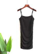 Dress Summer 2020 Black, white, red, yellow S,M,L,XL Mid length dress singleton  commute double-breasted camisole 25-29 years old Simplicity 81% (inclusive) - 90% (inclusive)
