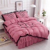 Bedding Set / four piece set / multi piece set Others other Solid color Skin friendly cotton Tang Lan Polyester (polyester fiber) 4 pieces 40 1.5 bed: quilt cover 200 * 230 bed skirt 150 * 200 1.8 bed: quilt cover 200 * 230 bed skirt 180 * 200 2.0 bed: quilt cover 200 * 230 bed skirt 200 * 220 other
