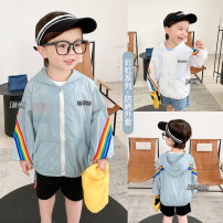 Children's skin clothes / sunscreen clothes White, blue 80,90,100,110,120,130 Small die other male summer Other 100%